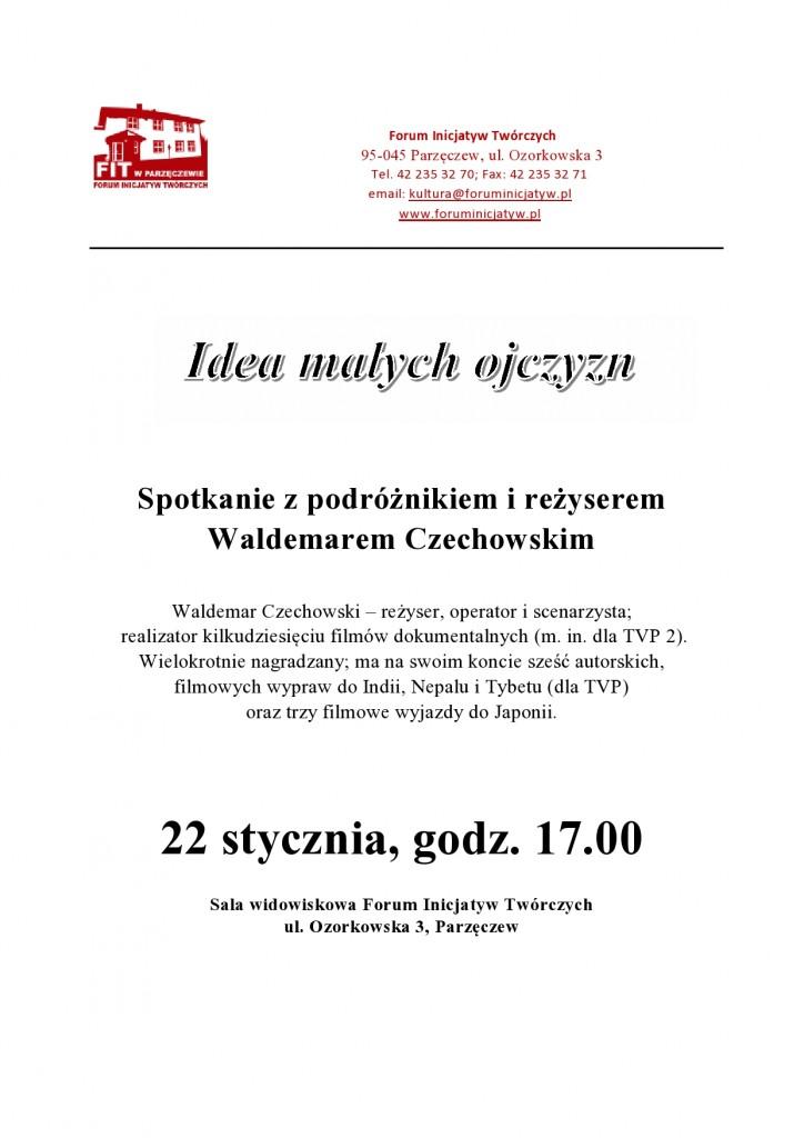 ogłoszenie o spotkaniu z Waldemarem Czechowskim-page0001